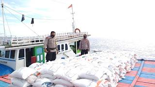 Agar Tepat Sasaran, Polres Pelabuhan Makassar Kawal Pendistribusian Beras PKH