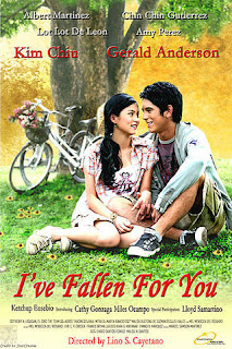 Ive Fallen for You is a 2007 Filipino romantic film. This is the first solo film of Gerald Anderson and Kim Chiu.