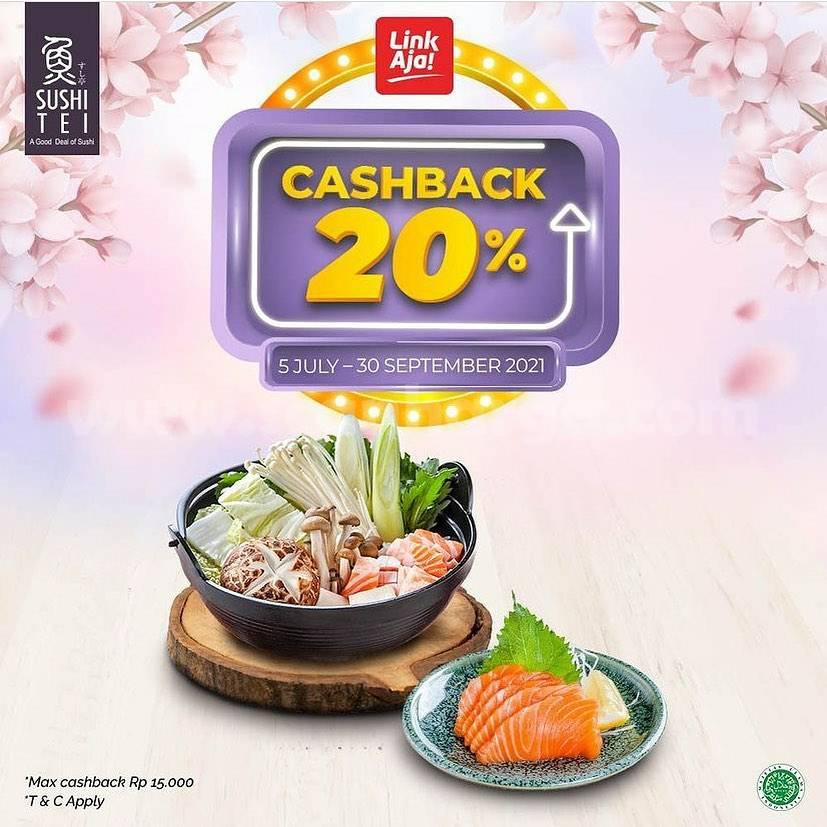 Promo SUSHI TEI CASHBACK 20% bayar pakai LinkAja