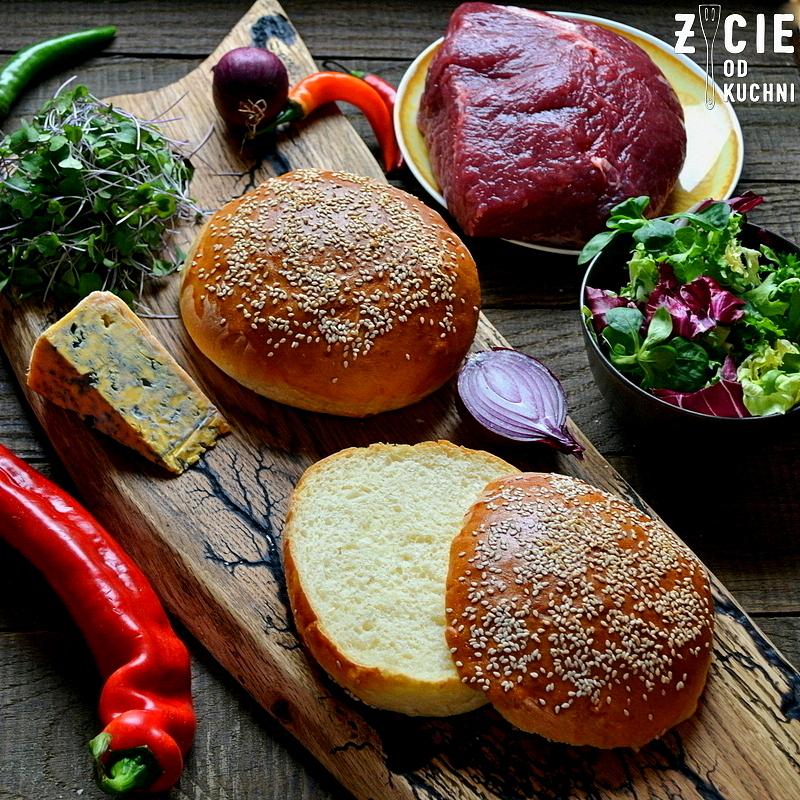 domowe burgery, bulki z sezamem, domowe bulki do burgerow, bulki drozdzowe, zycie od kuchni