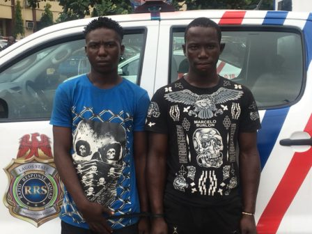 Suspected Phone Thieves Nabbed At Ojota, Lagos