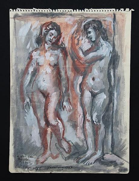 Dibujo: Desnudo, sin titulo, 1947