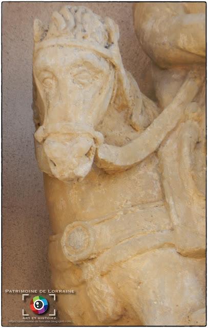 VOMECOURT-SUR-MADON (88) - Statue de Saint-Martin (XVIIe siècle)