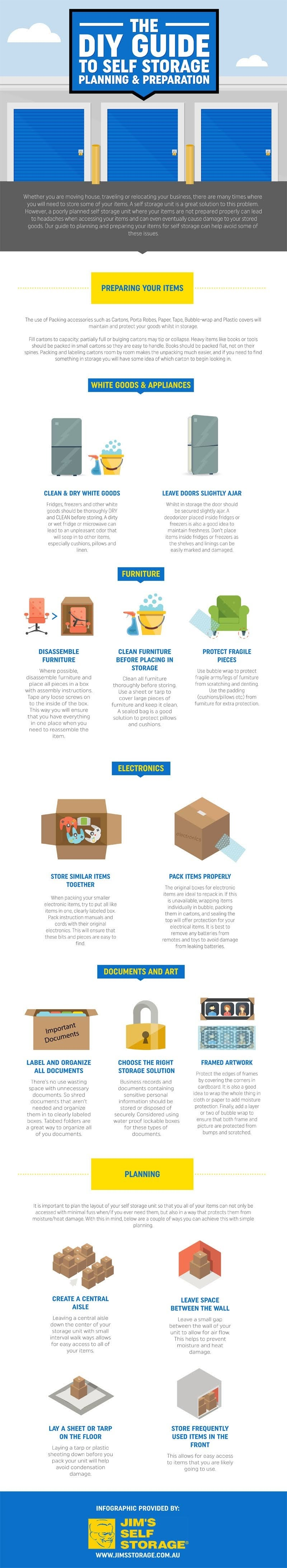 The DIY Guide to Self Storage Planning & Preparation #infographic