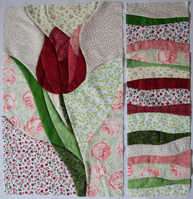curved pieced tulip