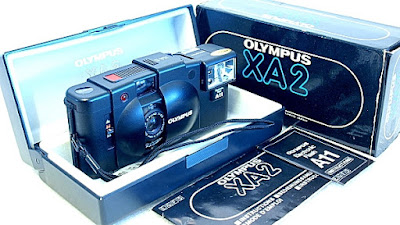 Olympus XA2, Kit with A11 flash, instruction, box, and case