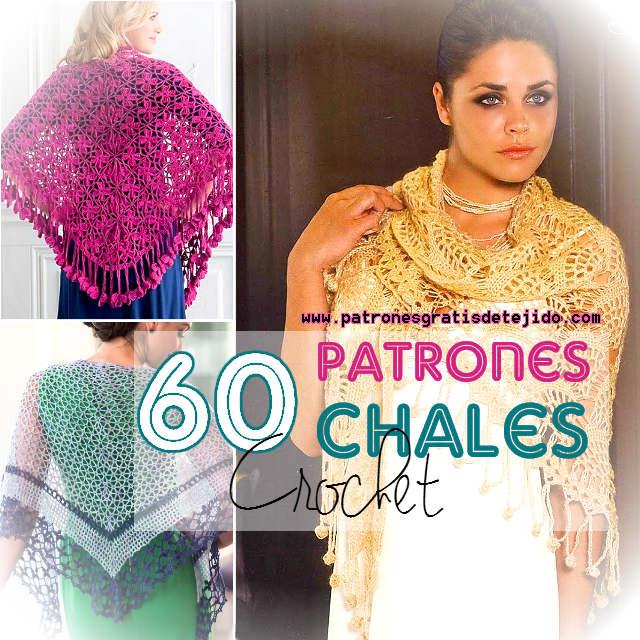 chales triangulares para tejer al crochet