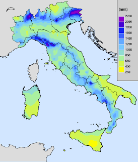 Rainfall in Italy