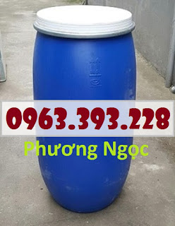 Thùng phuy nhựa nắp mở đã qua sử dụng, thùng phuy có đai sắt Phuy%2Bnh%25E1%25BB%25B1a%2B150L