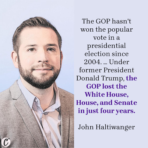 The GOP hasn't won the popular vote in a presidential election since 2004. ... Under former President Donald Trump, the GOP lost the White House, House, and Senate in just four years. — John Haltiwanger, Business Insider Senior Politics Reporter
