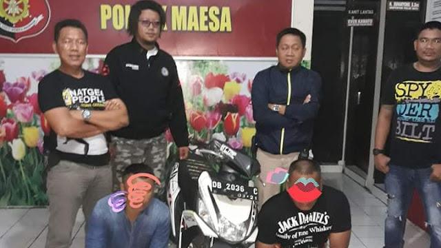 Team Cobra Sergap Dua Warga Bitung Penggasak SPBU