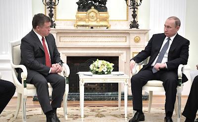 Vladimir Putin, Abdullah II - King of Jordan.