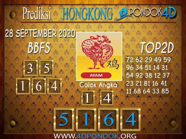 Prediksi Togel HONGKONG PONDOK4D 28 SEPTEMBER 2020