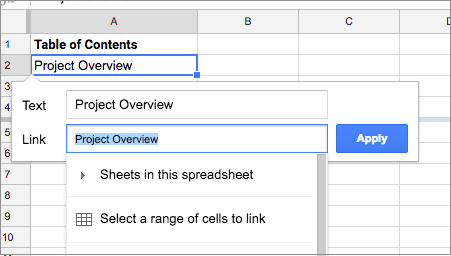 G Suite Updates Blog: Link to cell ranges in Google Sheets