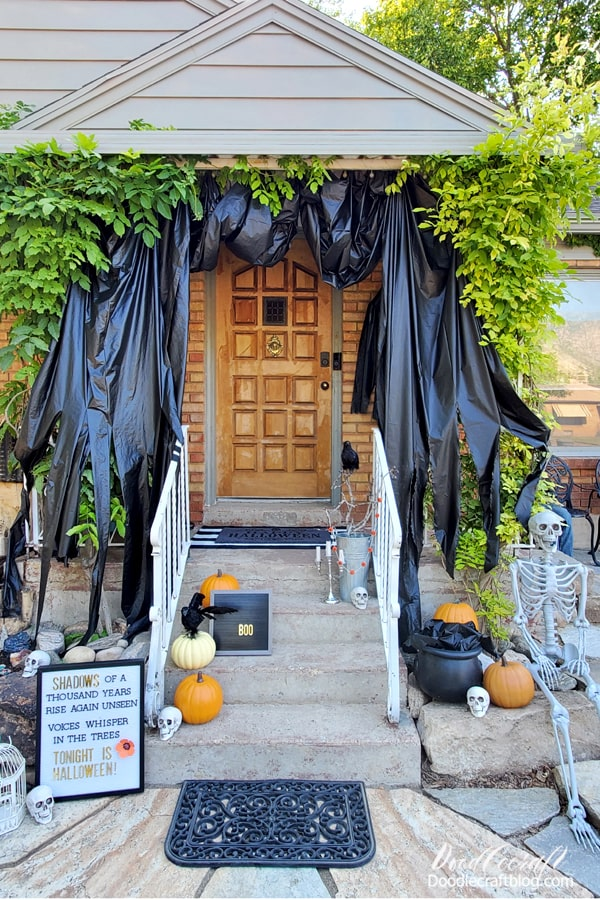 Decorate the front porch for all the neighbors to see and enjoy Halloween all through September and October!
