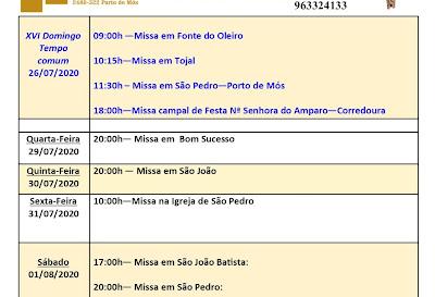 Avisos Paroquiais 26/07 a 2/08/2020