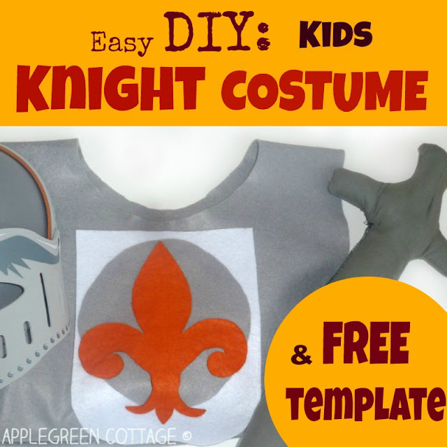 Easy diy kids knight costume no sew tutorial applegreen cottage this time im showing you how to make a no sew knights tunic really quickly you can be sure the homemade tunic will become your kids favorite piece of solutioingenieria Gallery