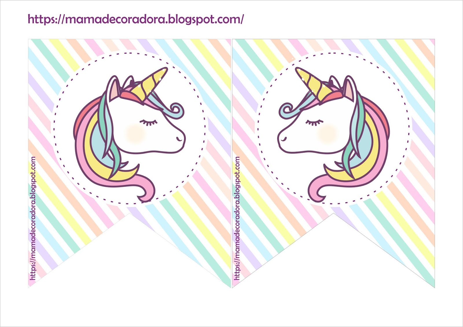 Mamá Decoradora Kit Imprimible Unicornio Gratis