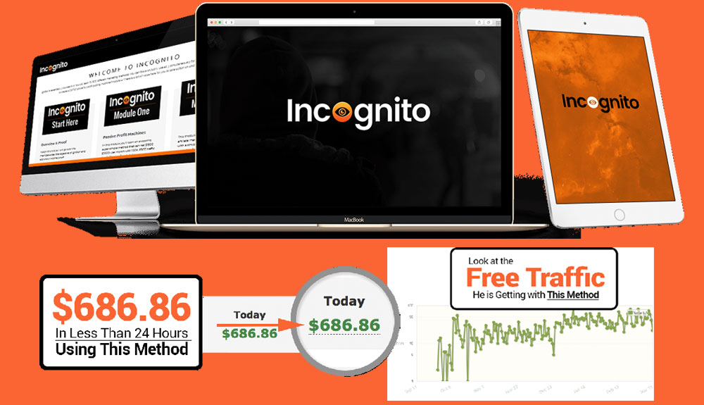 Incognito generates $686.86 in less than 24 hours