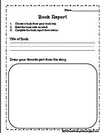 Kindergarten Book Reports | Time 4 Kindergarten
