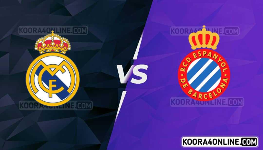 مشاهدة مباراة اسبانيول وريال مدريد القادمة كورة اون لاين بث مباشر اليوم 03-10-2021 في الدوري الاسباني