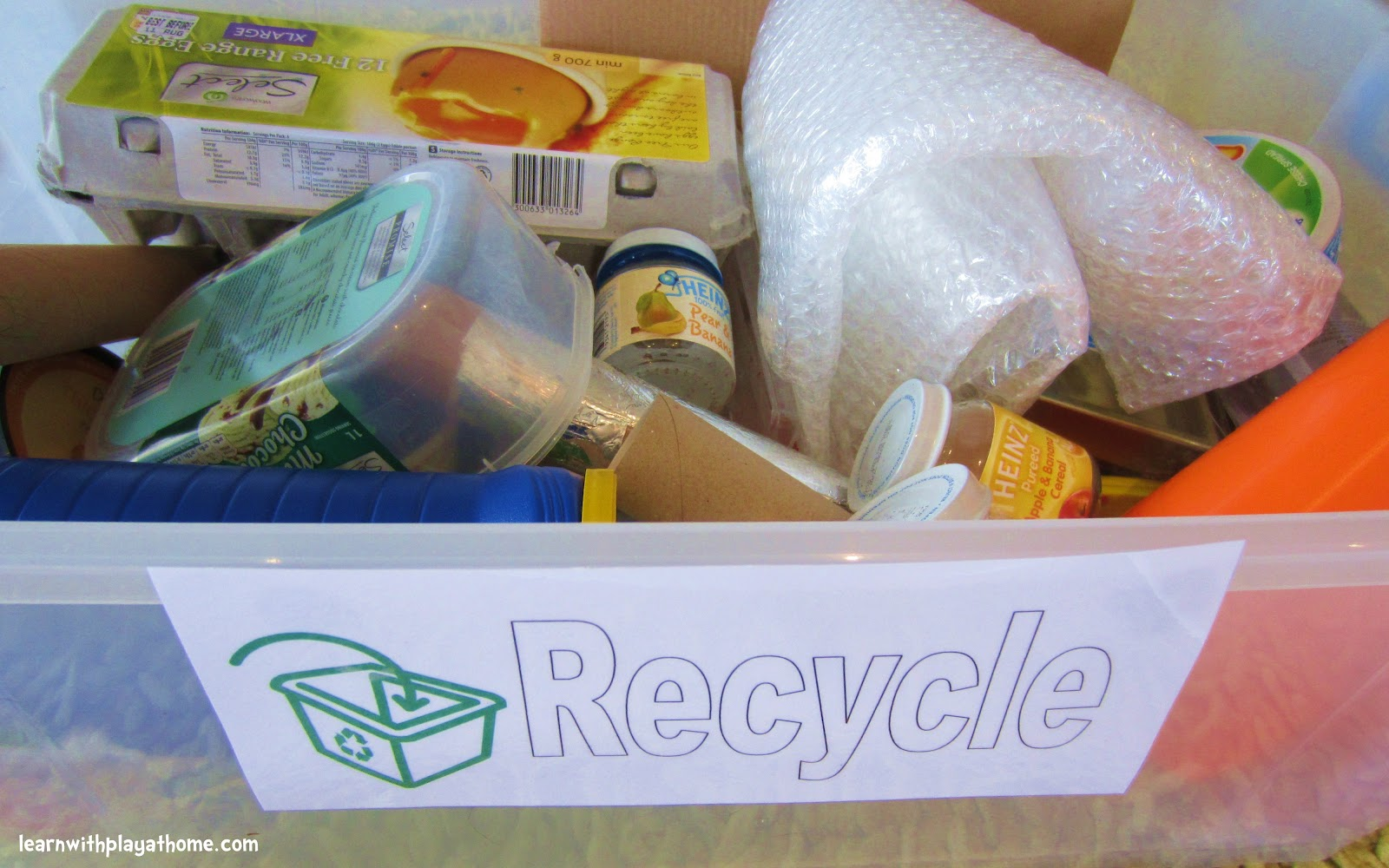 Learn With Play At Home Recycling Sorting Activity Free Printable Recycling Signs Amp Ebooks