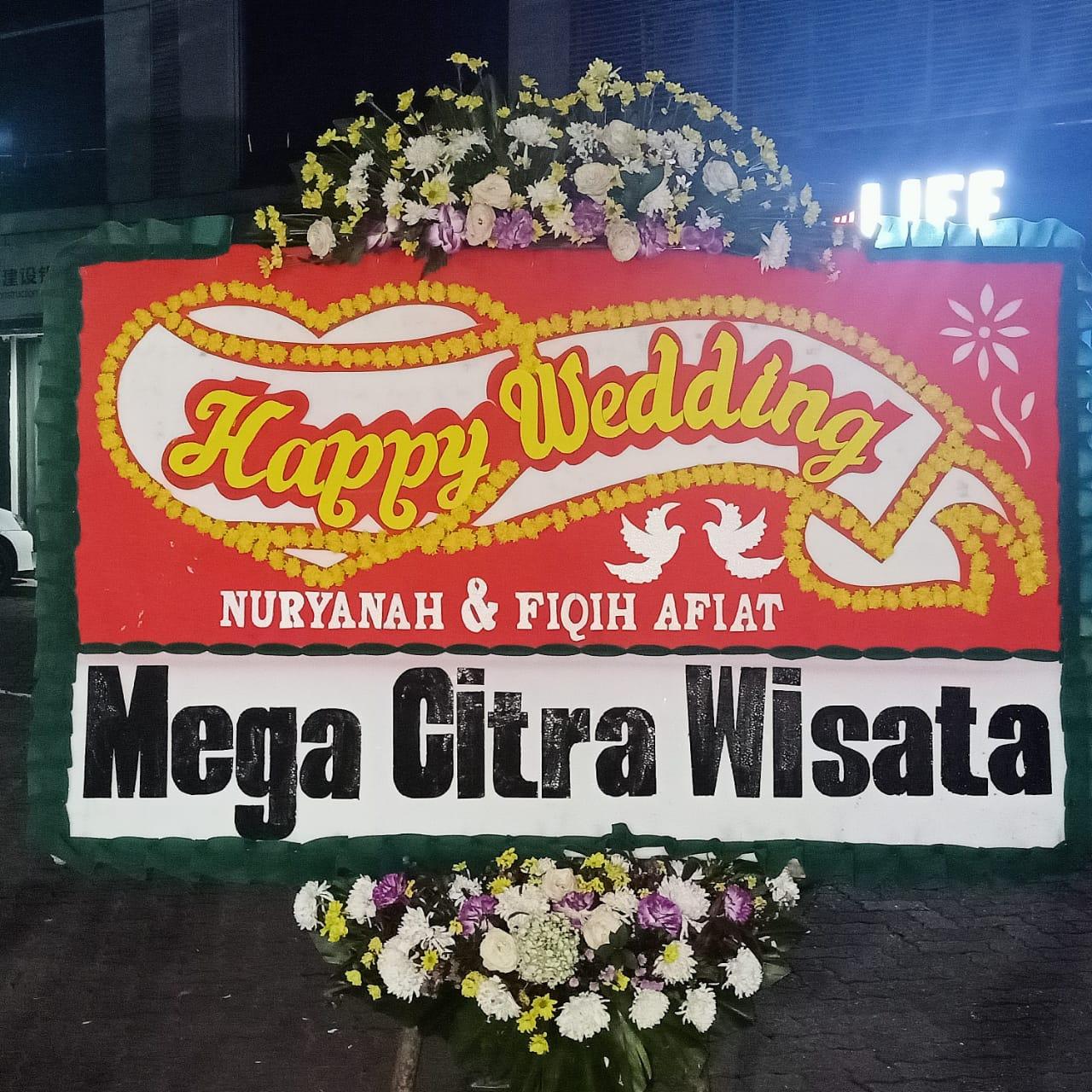 Bunga Papan Happy Wedding 019