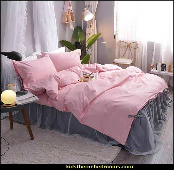 gray pink bedding  bedding - funky cool girls bedding - fashion bedding - girls bedding - teens bedding  - novelty bedding - duvet covers - comforter sets - lace bedding - floral bedding - solid color bedding - fuzzy furry bedding - ruffle bedding - novelty blankets - mermaid blankets - Pompom blanket - Chunky Knit Blankets