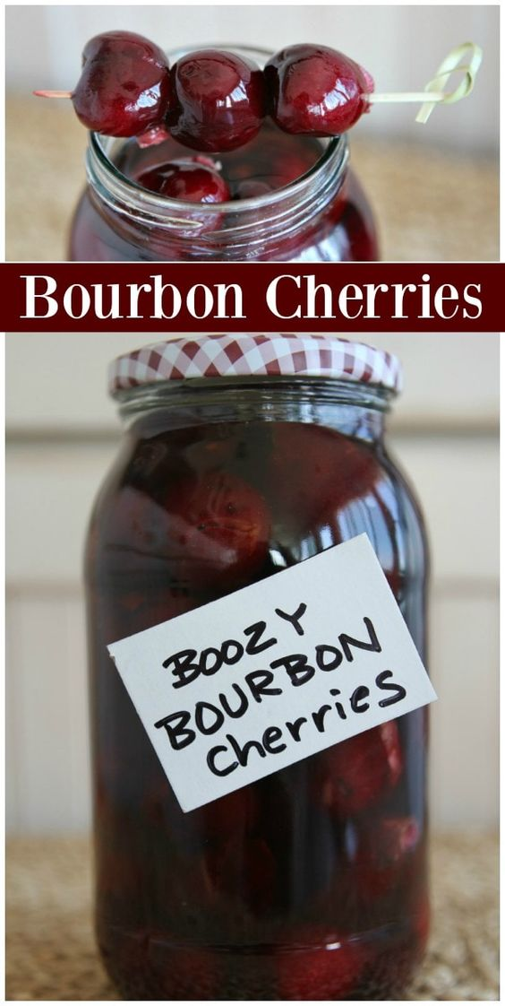 Boozy Bourbon Cherries