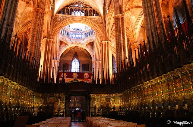 Il coro all'interno della Cattedrale de la Seu