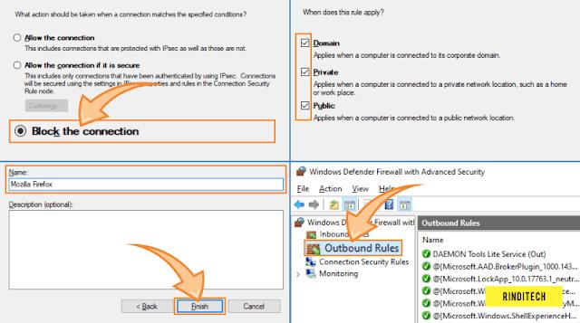 Cara block aplikasi agar tidak bisa terhubung ke internet di PC Windows
