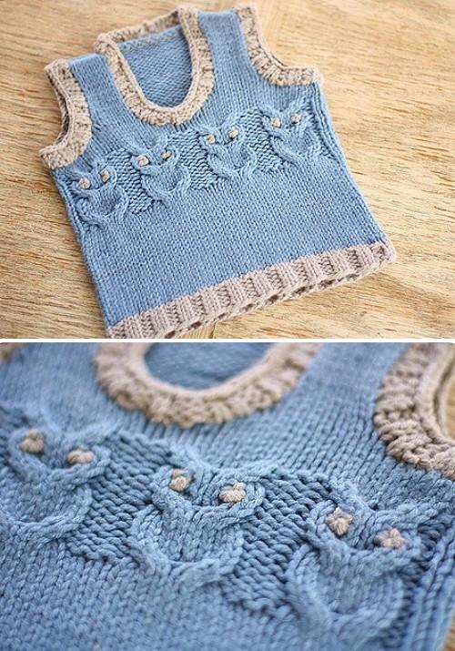 Owl Baby Vest - Free Pattern
