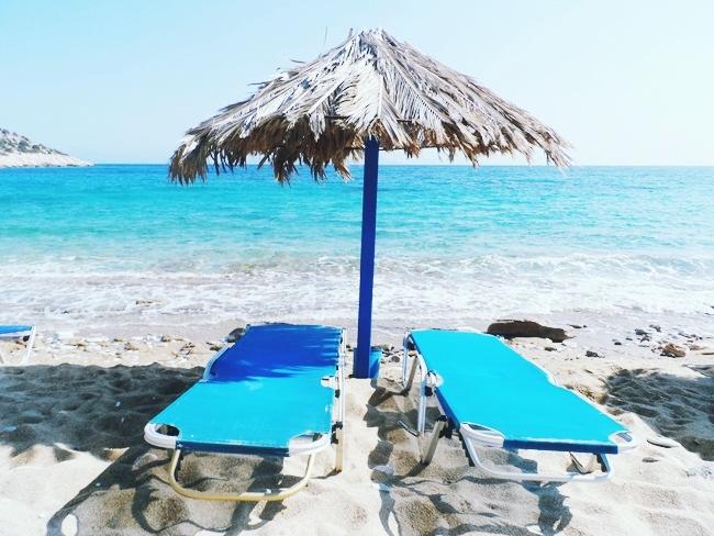 Agia Theodoti organized beach