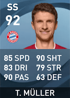 Max Rating PES 2021 Thomas Müller (92)