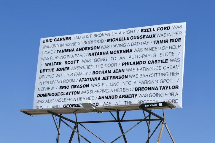 Black lives deaths billboard