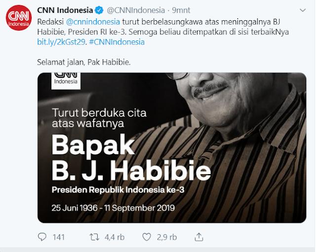 BJ. Habibi Meninggal dunia