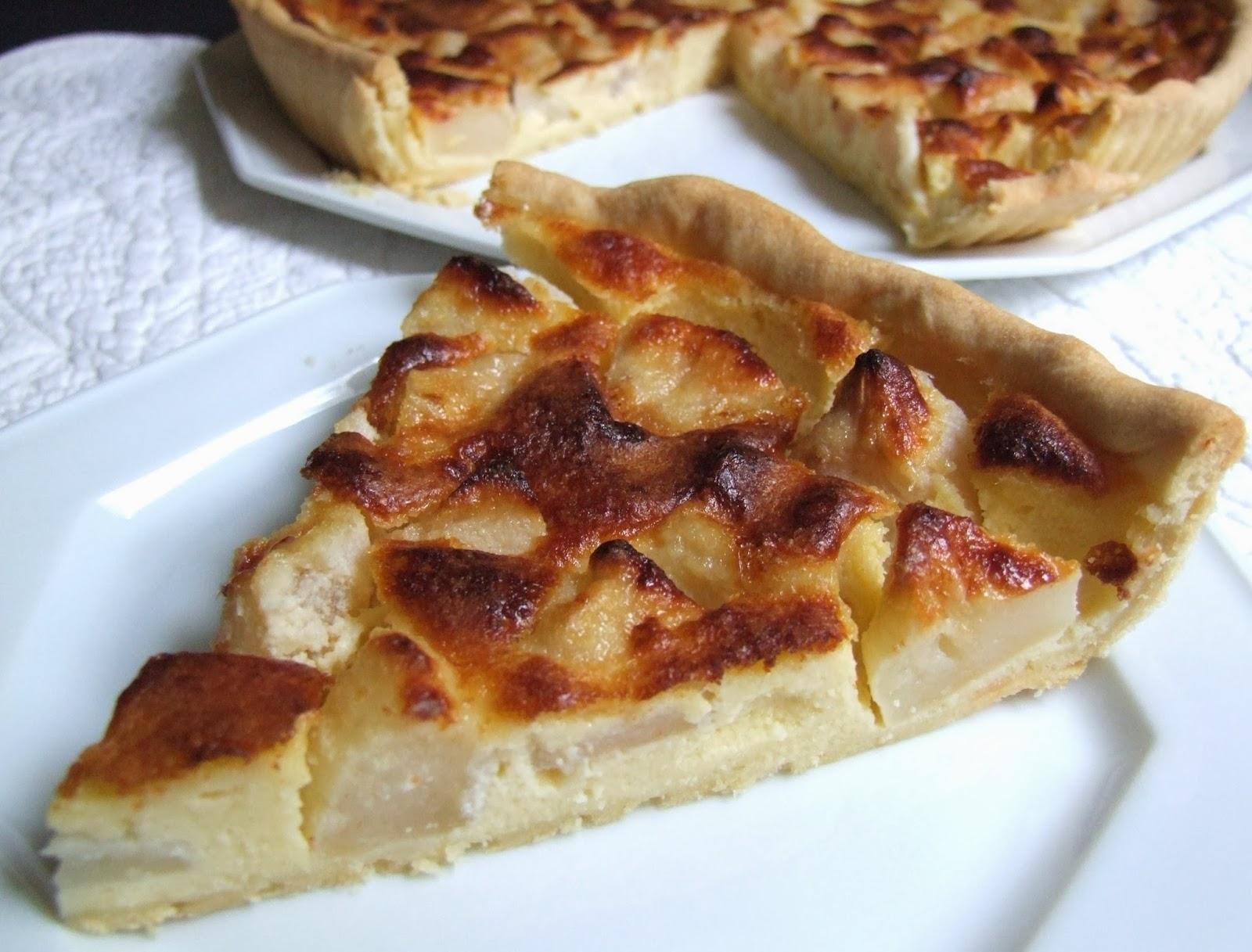 cooking julia tarte aux pommes en flan de mascarpone. Black Bedroom Furniture Sets. Home Design Ideas