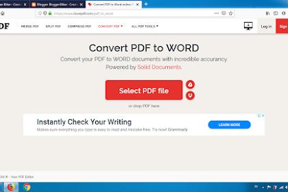 Cara PDF convert to Word Online Secara GRATIS!