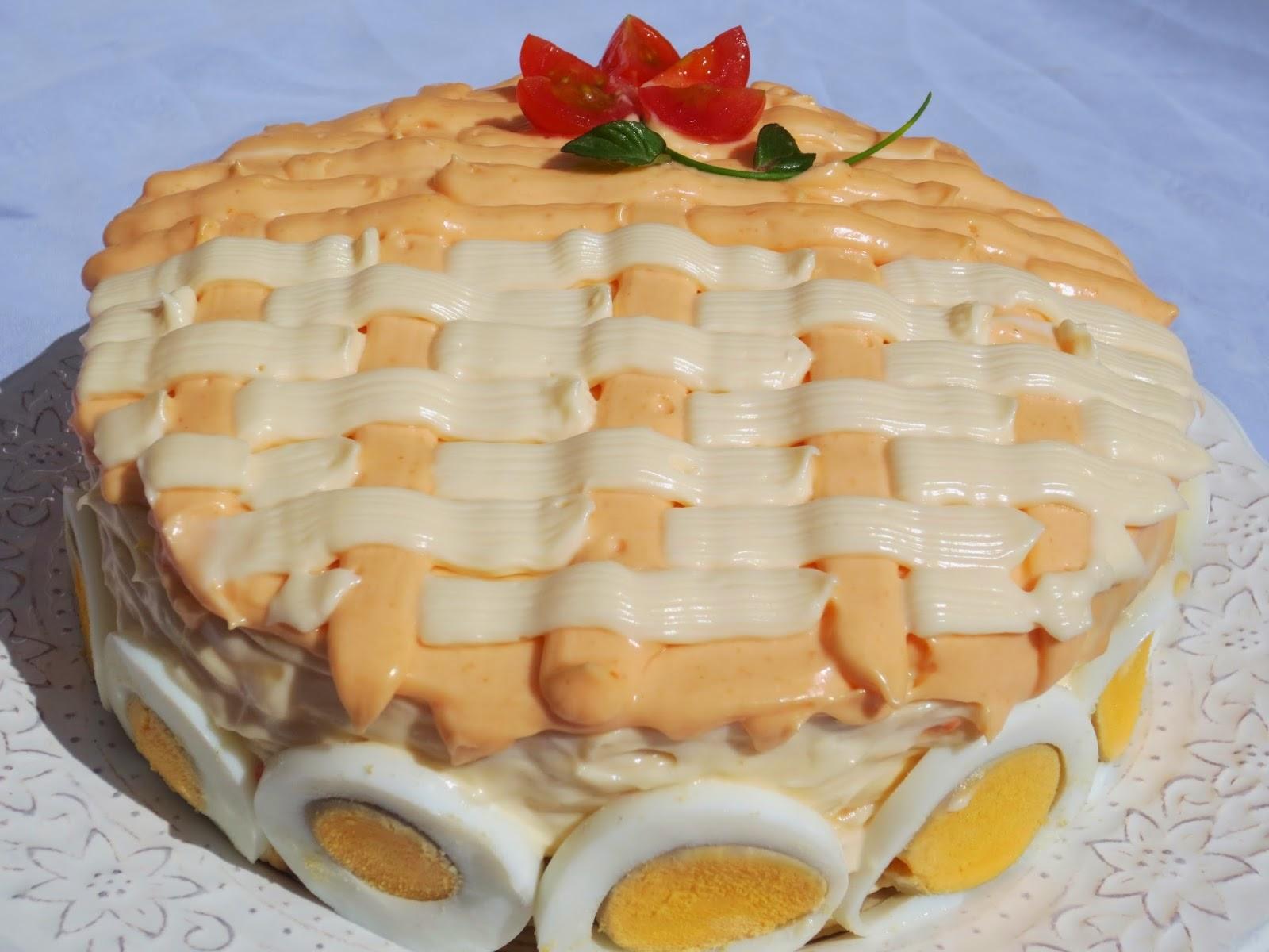 Tarta salada de tortitas (Fría) Ana Sevilla cocina tradicional
