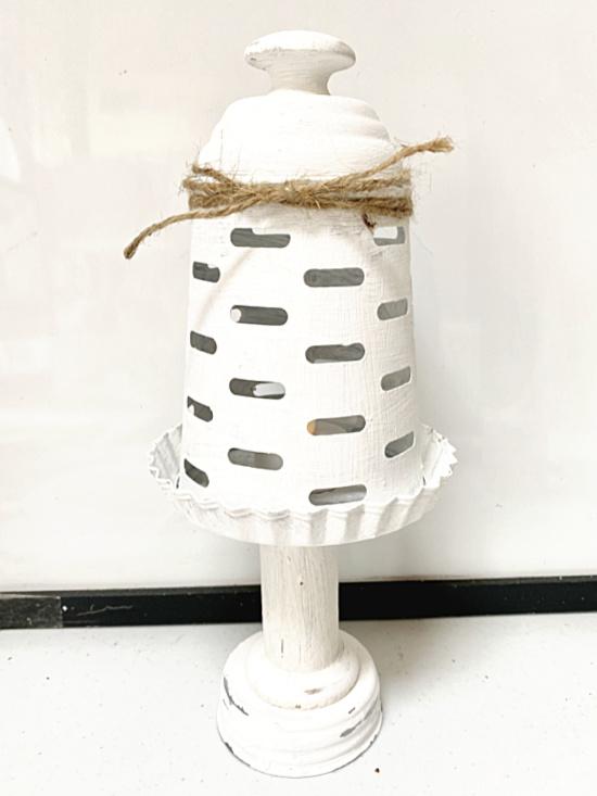 white painted lantern pieces