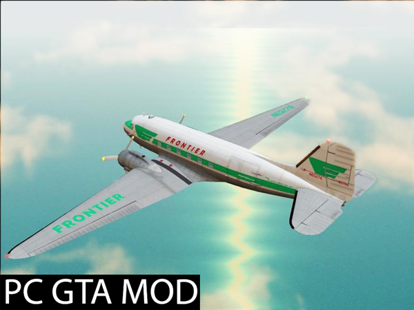 Free Download Douglas C-47 Skytrain  Mod for GTA San Andreas.
