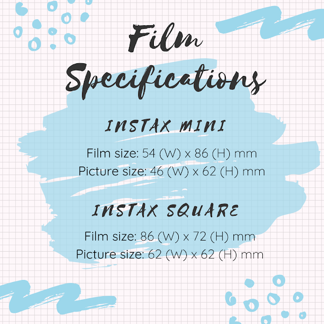 Instax FUJIFILM Printing Service - instax Mini & instax Square - FIlm Specifications