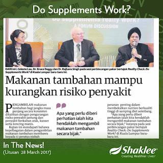 Sebab Kenapa Makanan Tambahan atau Suplimen Penting | Shaklee