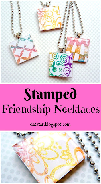 Stamped Friendship Necklaces Tutorial by Dana Tatar