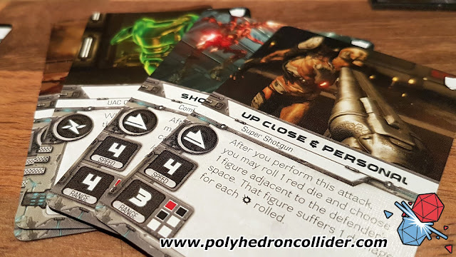 DOOM board game review weapon action cards