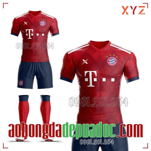 Áo Bayern Munich 2019 Sân Nhà Màu Đỏ Đẹp Và Độc