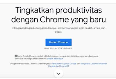 instal browser google chrome terbaru