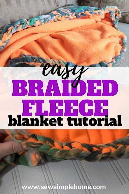 Create beautiful blankets for gifts and holidays with this DIY braided fleece blanket tutorial.