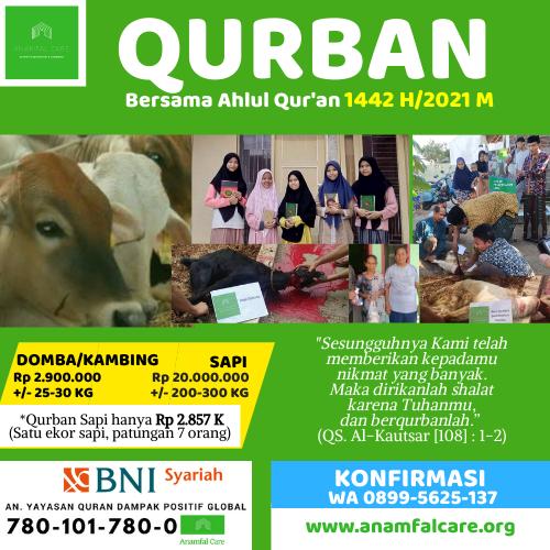 Qurban Bersama Ahlul Qur'an 1442 H-2021 M