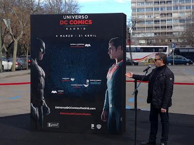 Inauguración de la exposición de DC Cómics con motivo de 'Batman v Superman: El amanecer de la justicia'
